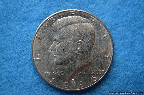 1986 P Kennedy Half Dollars