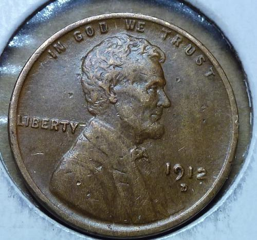 1912-D Extra Fine Lincoln Wheat Cent  XF ( 217)