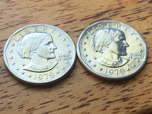 1979 P @ D Susan B Anthony Dollars