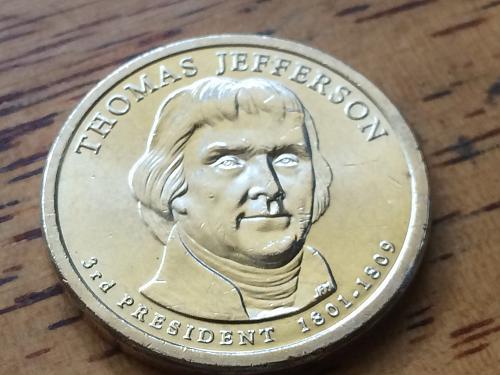 2007 P Thomas Jefferson Dollar #4