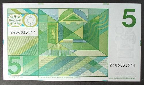 Netherlands P95a 5 Gulden UNC65