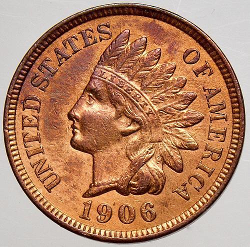 1906 Indian Head Cent #17 TDC-1c-1906-01  Die Clash