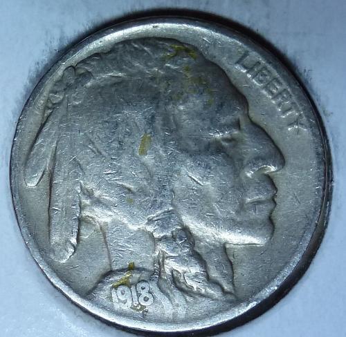 1918-P Full Very Fine Buffalo Nickel  (340 )