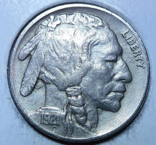 1921-P Full Extra Fine Buffalo Nickel  (348 )