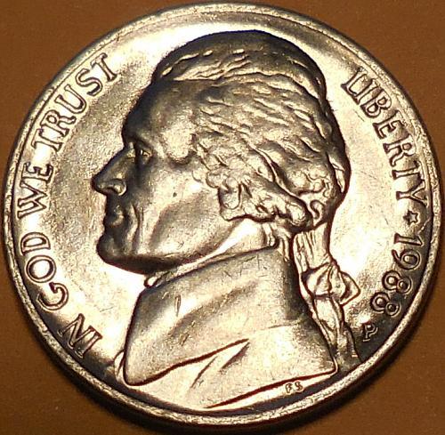 1988-P Jefferson Nickel