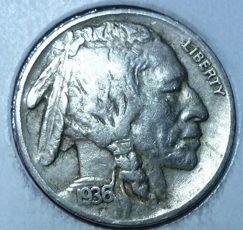 1936-S Full Extra Fine Buffalo Nickel  (379 )