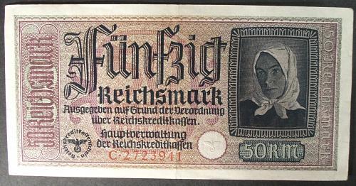 Germany/Third Reich R140 50 Reichsmark VF
