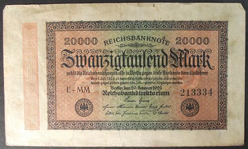 Germany P85a 20000 Mark Fine