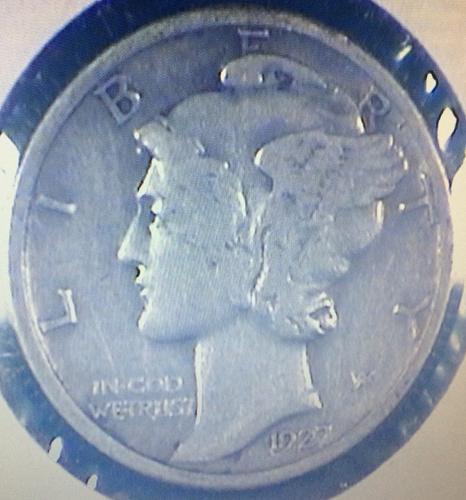 1927 Mercury Dime in VF