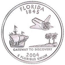 2004 S  SILVER PROOF  FLORIDA  STATE QUARTER