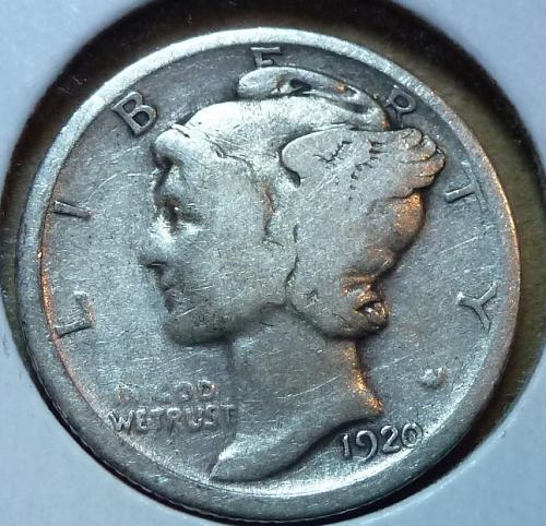 1920-P Very Good Mercury Dime   ( 534 )
