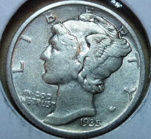 1935-P Extra Fine Mercury Dime   ( 565 )
