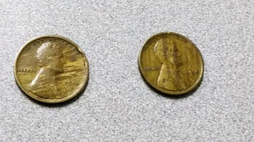 Two (2) 1918 S Lincoln Copper Wheat Cents BOTH Woodgrain Pattern with nice detai