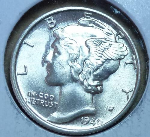 1940-S UNCIRCULATED with FSB Mercury Dime   ( 386 )