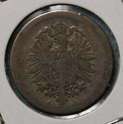 German Empire 1875J 5 pfennig