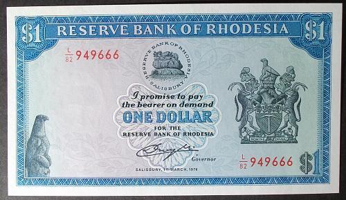 Rhodesia P34a Dollar UNC64