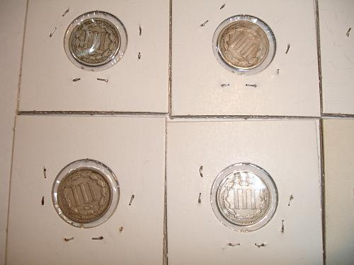 1865 to 1881 Three Cent Nickel Nickels Coin x10 Ten Coins Collection Lot #1 Bulk