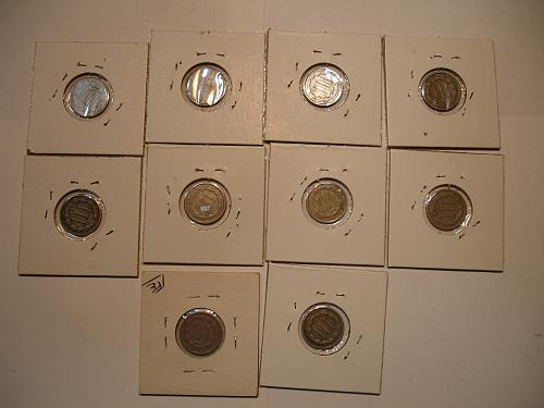 1865 66 67 1868 Three Cent Nickel Nickels Coin x10 Ten Coins Collection Lot#8