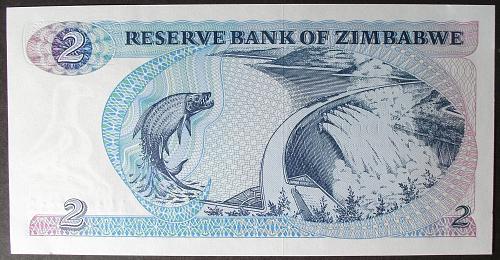 Zimbabwe P1a 2 Dollars UNC63