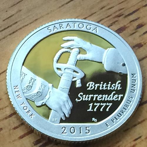 2015 S Silver Proof Saratoga