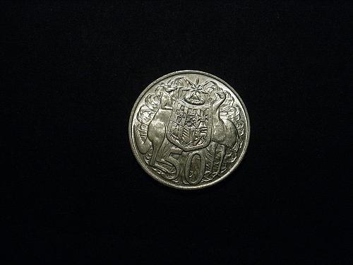 Australia 1966 50 cent (Round 50) in XF 45