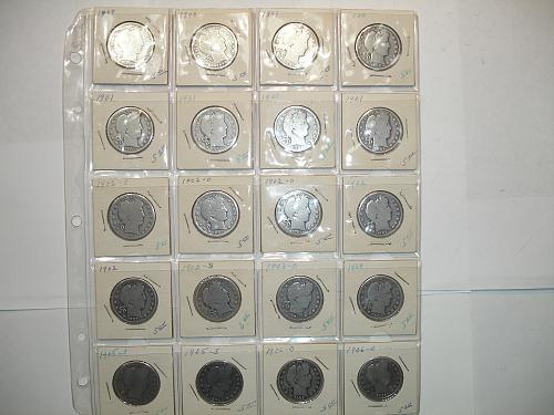 1898-1906 Silver Barber Half Dollars Coin x20 Twenty Coins Collection Lot #1