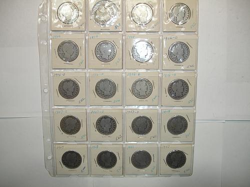 1906-1907 Silver Barber Half Dollars Coin x20 Twenty Coins Collection Lot #2