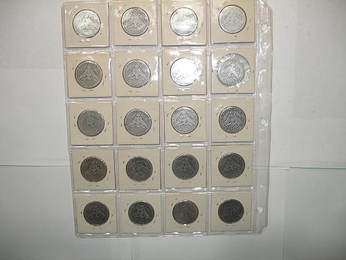 1908 D O  Silver Barber Half Dollars Coin x20 Twenty Coins Collection Lot #4