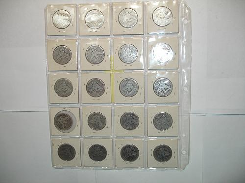 1908 - 1909  Silver Barber Half Dollars Coin x20 Twenty Coins Collection Lot #5