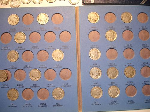 1914 - 1937 Buffalo Nickels Coin 70 Coins Entire Collection Lot Bulk WhitmanBook