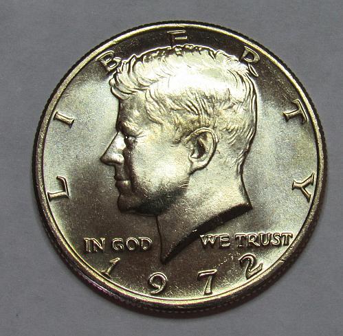 1972 P Kennedy Half Dollar in BU condition