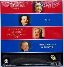 2012  P-D Presidential One Dollar Uncirculated Coin set
