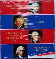2007  P-D Presidential One Dollar Uncirculated Coin set