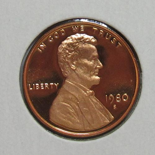 1980 S Proof Lincoln Memorial Cent