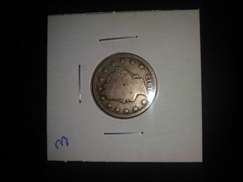 excellent 1912 v nickel