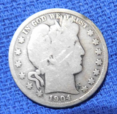 1904 P BARBER HALF DOLLAR