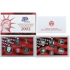 2002 S  SILVER PROOF SET  ( 10 COINS )