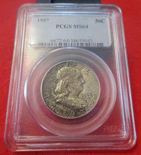 1957-P 50C PCGS MS64 Franklin Half Dollar