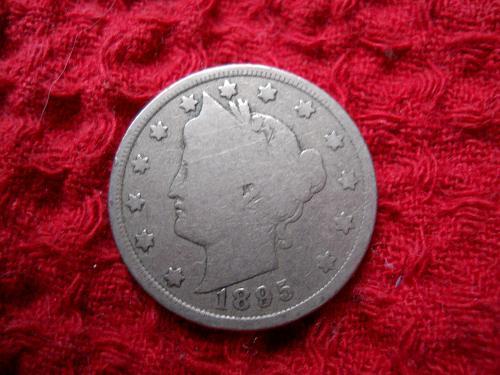 1895 Liberty Nickel Good-4 Grade.  Original Uncleaned Surfaces.