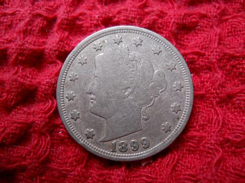 1899 Liberty Nickel Fine Grade.  Original Uncleaned Surfaces