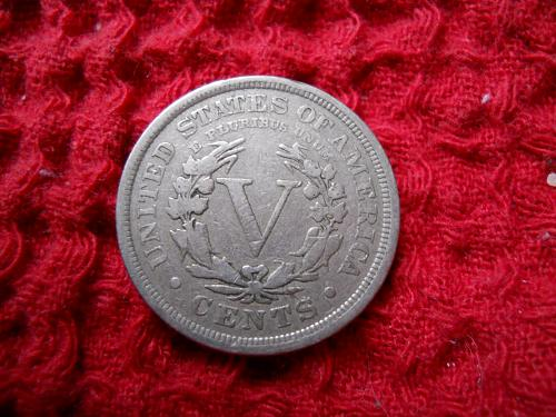 1901 Liberty Nickel.  Fine Grade.  Original Uncleaned Surfaces.