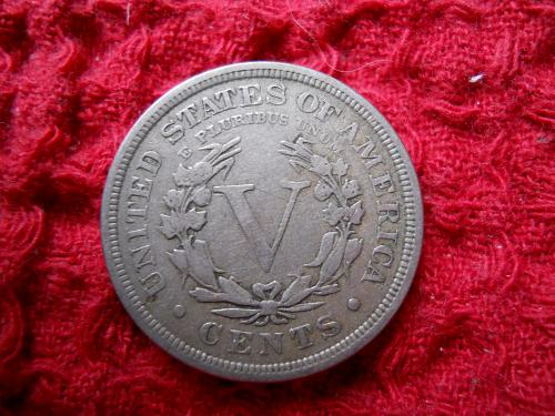 1906 Liberty Nickel Fine 15 Grade.  Original Uncleaned Surfaces.