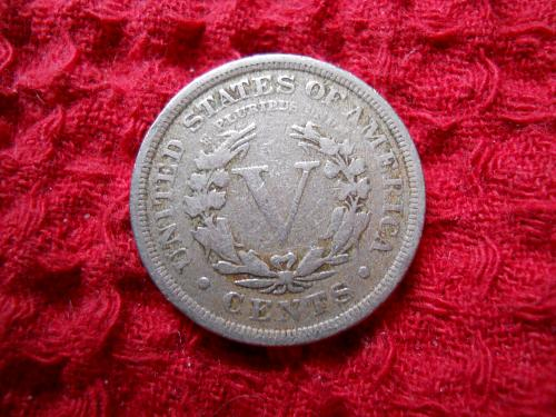 1909 Liberty Nickel.  Fine Grade.  Original Uncleaned Surfaces.
