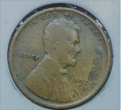 Here is a 1909 S Very Fine Lincoln Wheat Cent  (658)