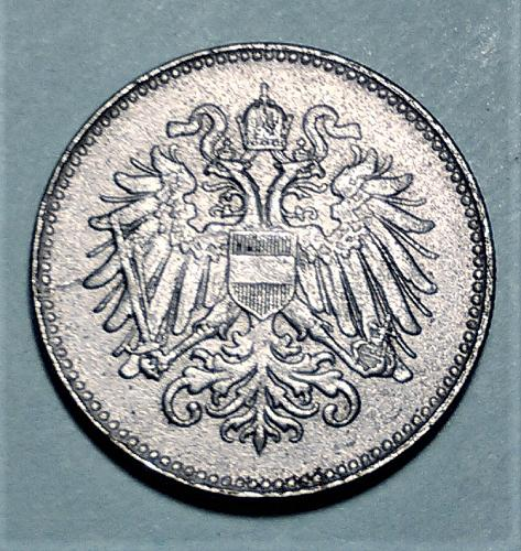 UNCIRCULATED MS-63  -- 1916 AUSTRIA IRON 20 HELLER