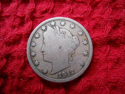 1912-D Liberty Nickel Very Good-10 Grade.  Original Uncleaned Surfaces.