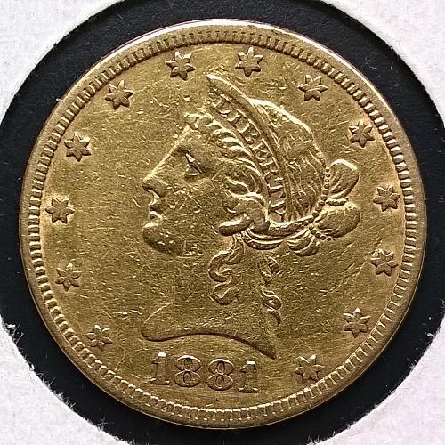 1881 P Coronet Head $10 Eagle - 10 Photos!
