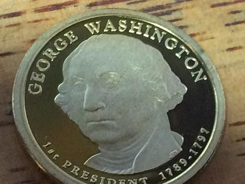 2007 S George Washinton Golden Dollar Proof