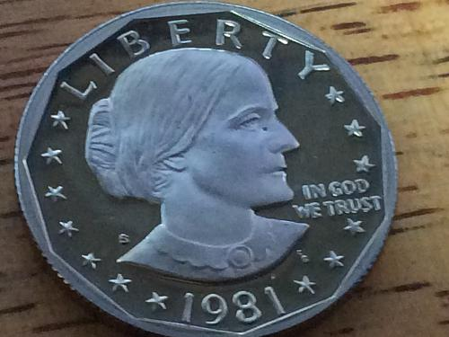 1981 S Susan B Anthony Dollar Proof