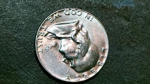 "1955 Franklin Silver Half dollar ""Bugs Bunny""  FS401 Circulated"